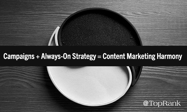 Campaigns + Always-On Strategy=Content Marketing Harmony