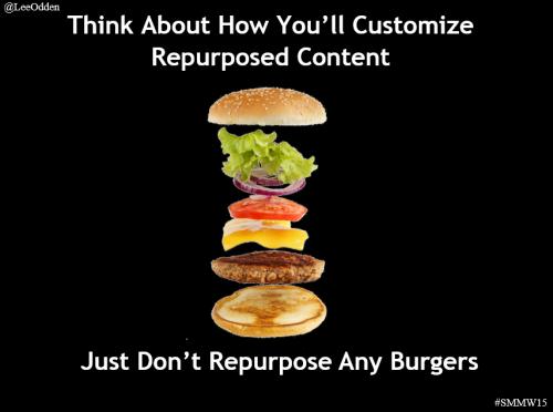 Burger is repurposed content