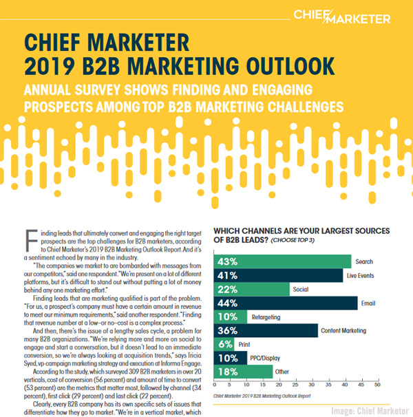 Chief Marketer 2019 B2B Marketing Outlook Survey Image