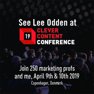 Lee Odden, Clever Content Conference 2019 speaker