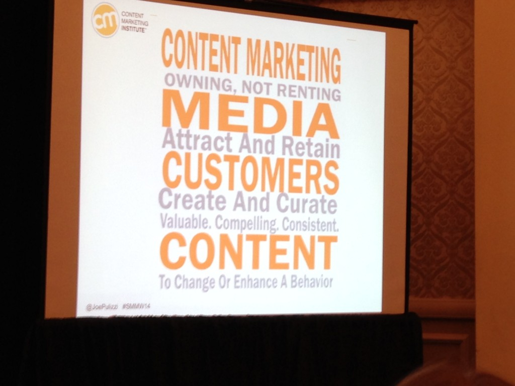 Content Marketing Definition #SMMW14