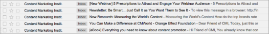 Content Marketing Institute Email Marketing