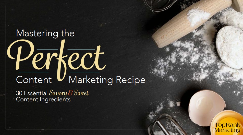Mastering the Perfect Content Marketing Recipe eBook