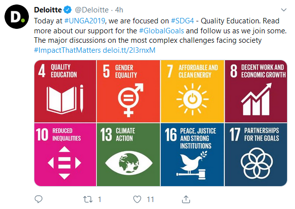 Deloitte Twitter Example