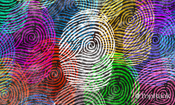Colorful diverse finger prints image.