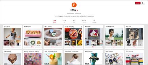 Etsy Pinterest