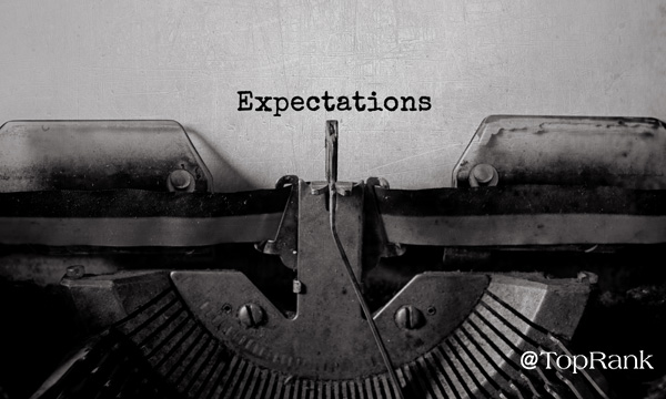 Expectations Typewriter Image