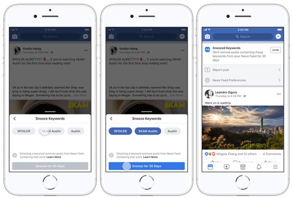 Facebook's New Custom Snooze Tool