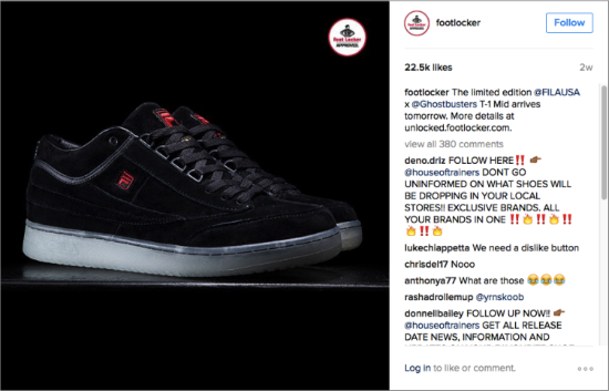 Footlocker Instagram