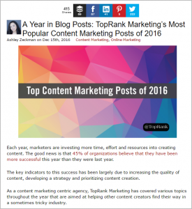 Holiday Content Marketing Ideas -