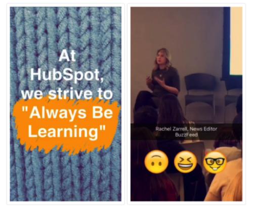 HubSpot Snapchat Example