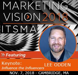 Lee Odden, 2018 ITSMA Marketing Vision Speaker