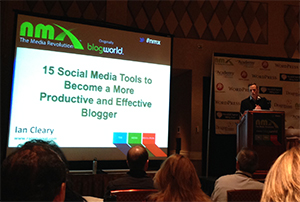Ian Cleary Presenting at New Media Expo 2014