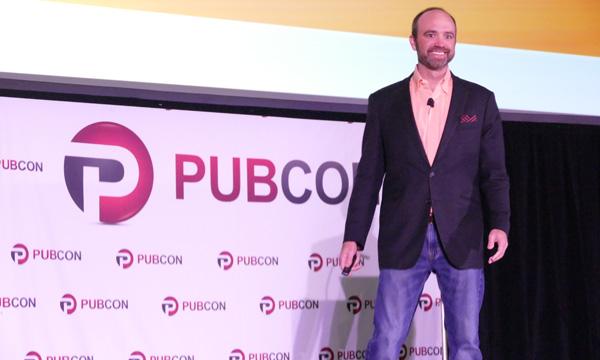Joe Pulizzi at Pubcon 2018 Photo by Lane R. Ellis