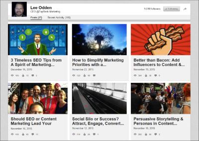 Lee Odden LinkedIn Content