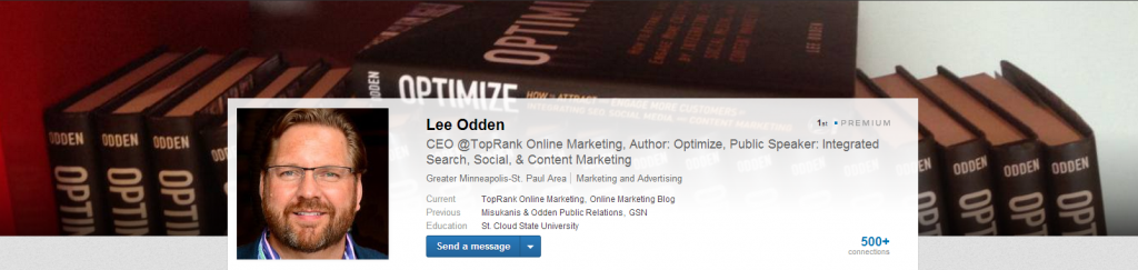 Lee Odden Optimized LinkedIn Profile