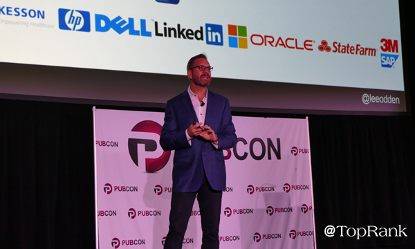 Lee Odden speaking at Pubcon Pro Las Vegas 2018 Photo by Lane R. Ellis