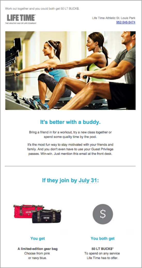 Life Time Fitness Email