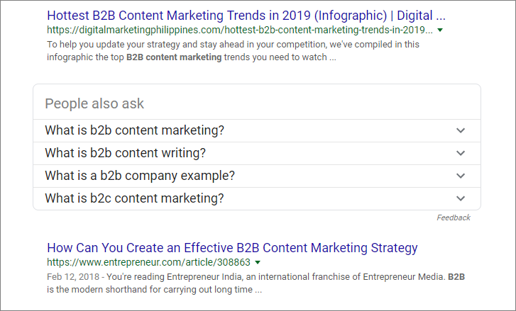 use people also ask to inform your b2b seo strategy