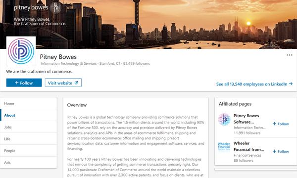 Pitney Bowes LinkedIn