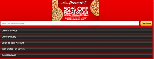 Pizza Hut Mobile Content