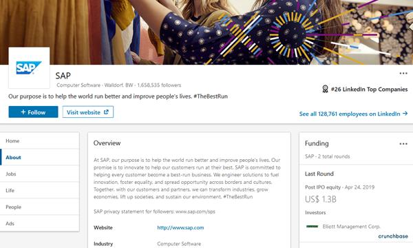 SAP LinkedIn