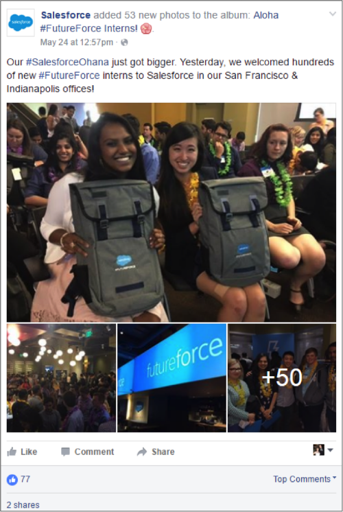 Salesforce Facebook