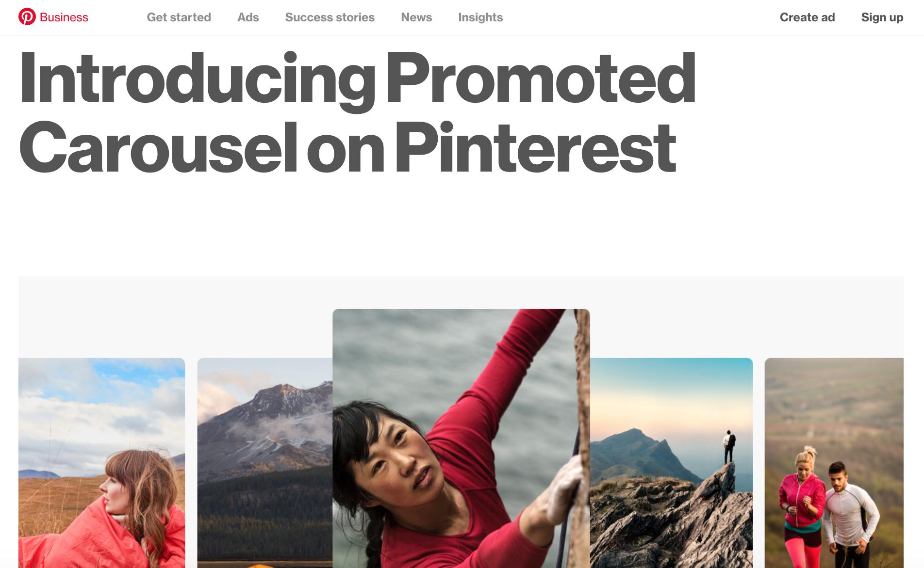 Pinterest Carousel Ads