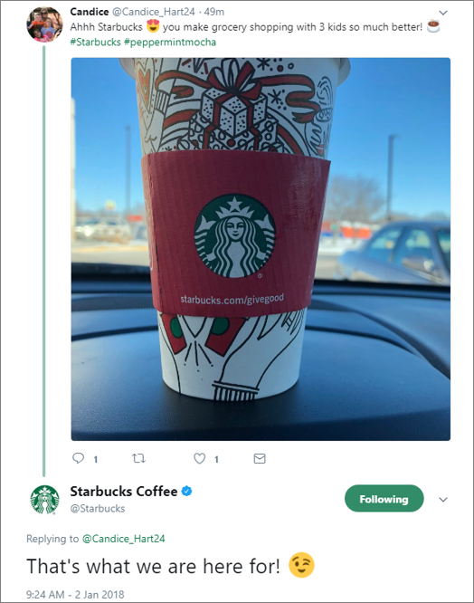 Starbucks Social Care Example