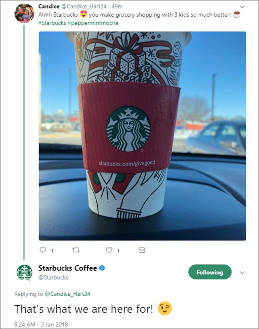 Starbucks Social Care Example