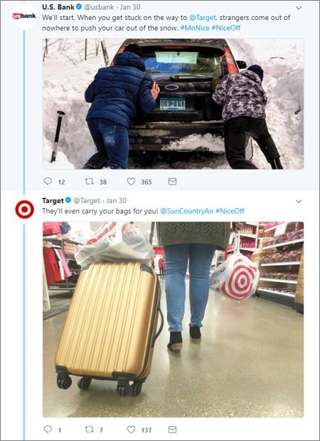 Target and US Bank Nice Off