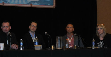 A panel discusses social media ROI