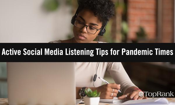 Active social media listening