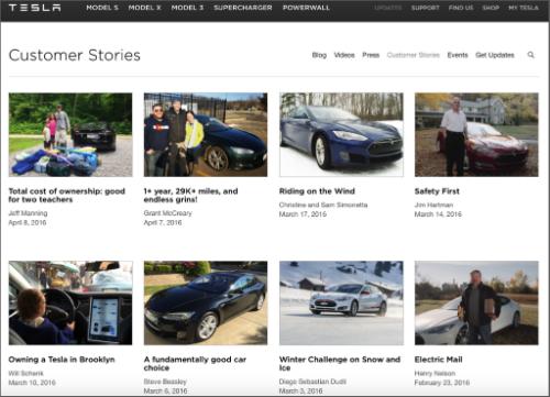 Tesla Customer Stories