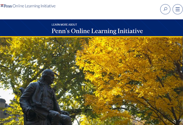 Penn's Online Learning Initiative (OLI) Screenshot Image