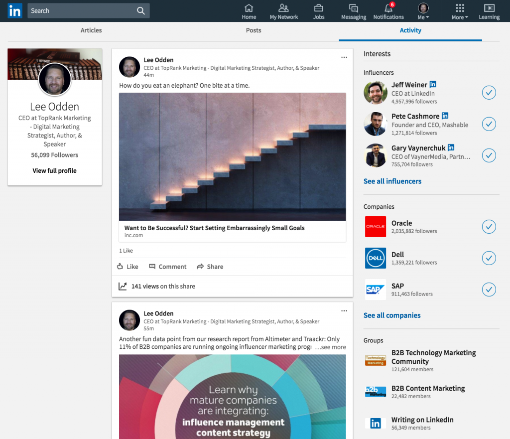 how to change linkedin new look