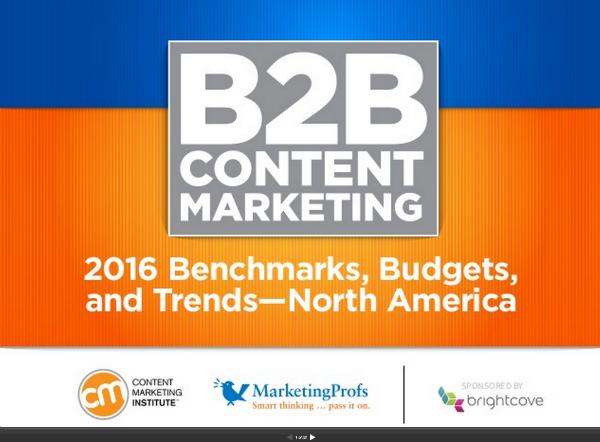 B2B Content Marketing Report 2016