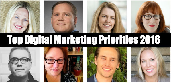 Digital Marketing Priorities 2016