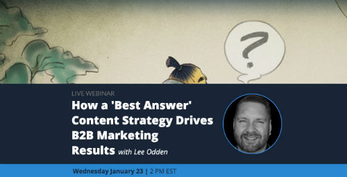 B2B best answer marketing webinar