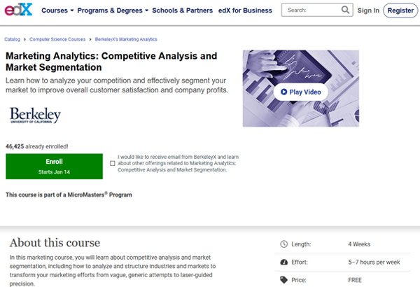 edX Marketing Analytics Course Image