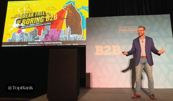 Bye-Bye Boring B2B: Lee Odden Shows B2BMX Attendees the Power of Interactive Influencer Content