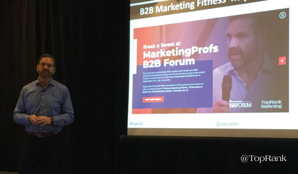 Breaking Down Barriers for Healthy B2B Marketing with Lee Odden #MPB2B