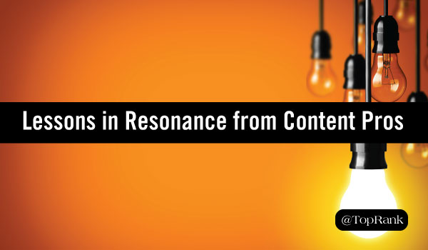 Lessons in Content Marketing