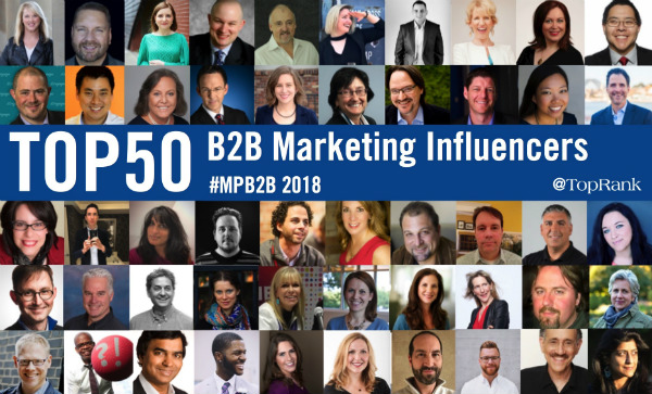 B2B Marketing Influencers 2018