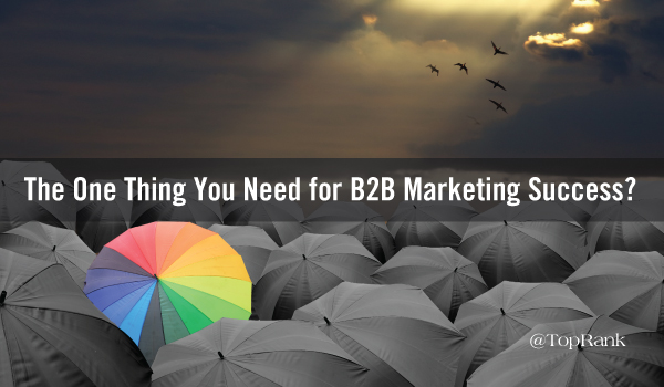 one-thing-b2b-marketing-success