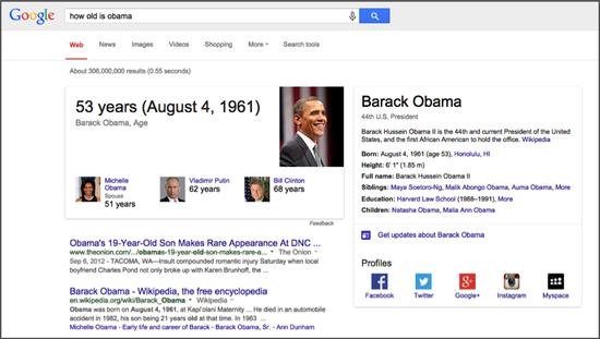 Obama Age Serp
