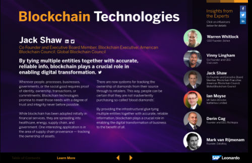 blockchain influencers SAP