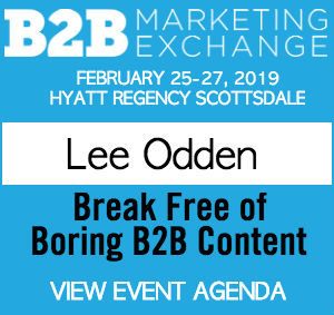 Lee Odden, 2019 B2B Marketing Exchange speaker