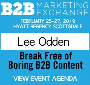 Lee Odden, 2019 B2B Marketing Exchange speaker