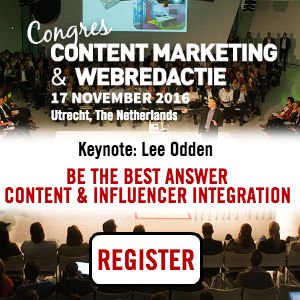 Content Marketing & Web Editing Conference Utrecht